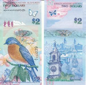 Pick 57c Unc Bermuda 2018 2 Dollars 2009