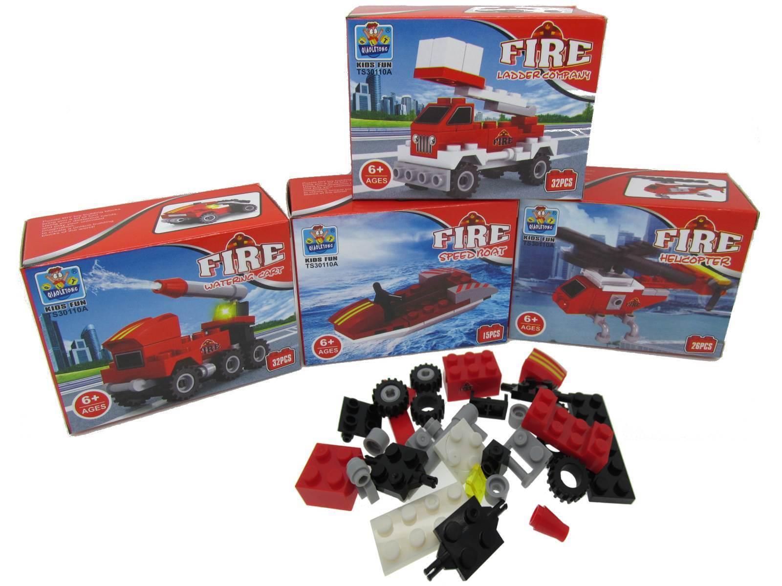 Bausteine Set Feuerwehr Feuerwehr Feuerwehr Auto Fahrzeuge Set Spielsteine Mitgebsel Spielzeug ca16f7