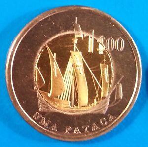 Oecusse-1-pataca-2015-UNC-Ship-Bi-metallic-East-Timor-Oecussi-unusual-coin