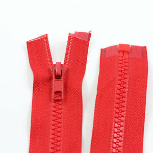RED-10-039-039-32-039-039-INCH-CHUNKY-NO-5-OPEN-END-ZIPS-12-SIZES-PLASTIC-SEW-ON-NZ1162