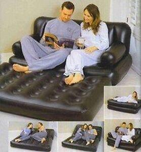 divan canape lit matelas gonflable de camping pour maison 5 en 1 193x152x64cm 60 ebay. Black Bedroom Furniture Sets. Home Design Ideas