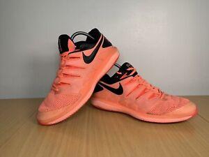 Nike-Air-Zoom-Vapor-X-Men-039-s-Tenis-Coral-Rosa-Tamanho-UK-9-EUR-44-AA8030-660