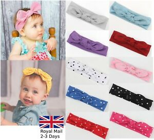 Baby-Girls-Bow-Rabbit-Turban-Polka-Sparkling-Headband-Hair-band-Head-Wrap-Kids