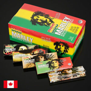 Bob-Marley-1-1-4-Size-Pure-Hemp-Cigarette-Rolling-Papers-5-Packs