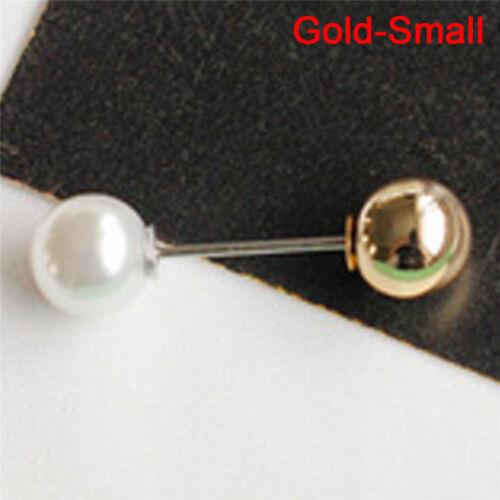 Große Nadel Perle Brosche Bouquet Pin Pullover Schal Schnalle Hochzeit U sp