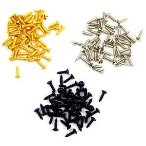 150-pcs-Chrome-Black-Gold-Humbucker-Pickup-Vis-de-montage-pour-Strat-Tele-Guitare