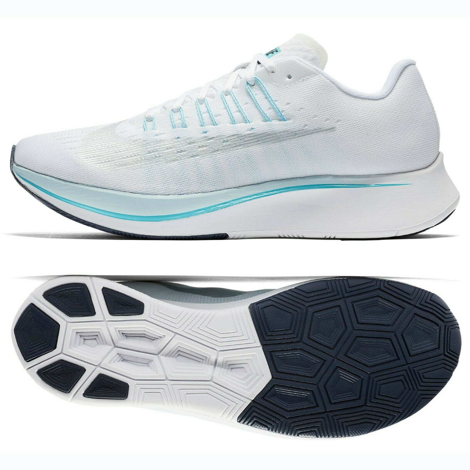 Nike WMNS Zoom Fly 897821-104 White Glacier bluee Silver Women's Running shoes