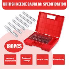 190pcs M1 061 250 Plug Pin Gage Set Minus Steel 0002 Tolerance