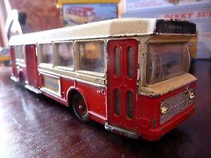 Superbe ! Dinky Toys Autobus Berliet Pcm Modèle 889 U De 1965 À 1970 Très Rare