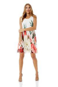 Roman-Originals-Women-039-s-Floral-Print-Swing-Dress-Sizes-10-20