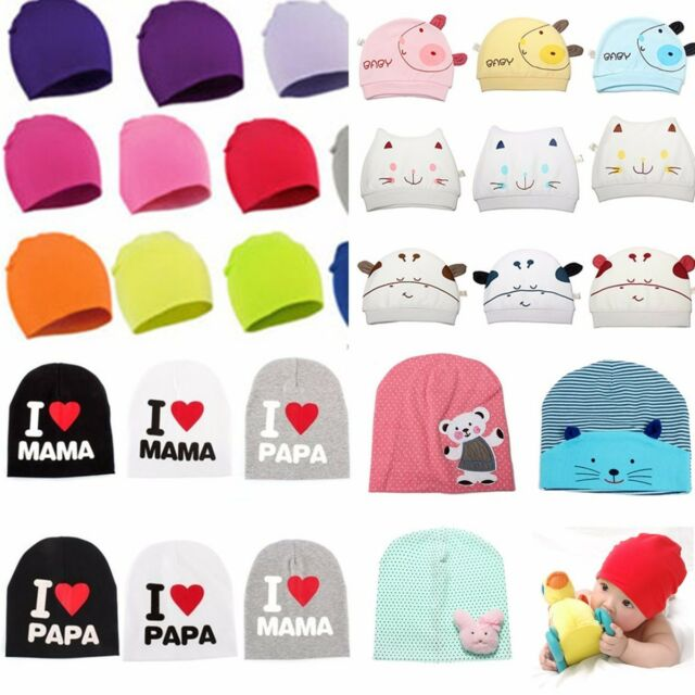 Cute Baby Girl Boy Toddler Infant Kids Cotton Beanie Hat Stretchy Knitted Cap