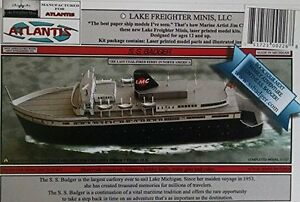 S-S-Badger-Great-Lakes-Coal-Fired-Ferry-Boat-Paper-Model-Atlantis-Toy-amp-Hobby