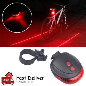 2 Laser Flashing Lamp Light Cycling Bicycle Rear Tail Safety Warning 8 LED