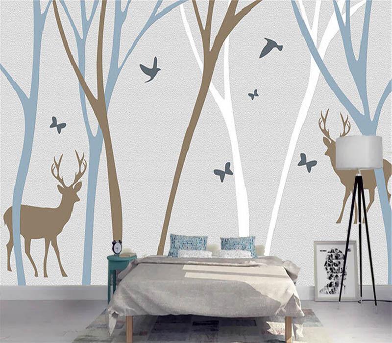 Plentiful Sober Deer 3D Full Wall Mural Photo Wallpaper Printing Home Kids Decor
