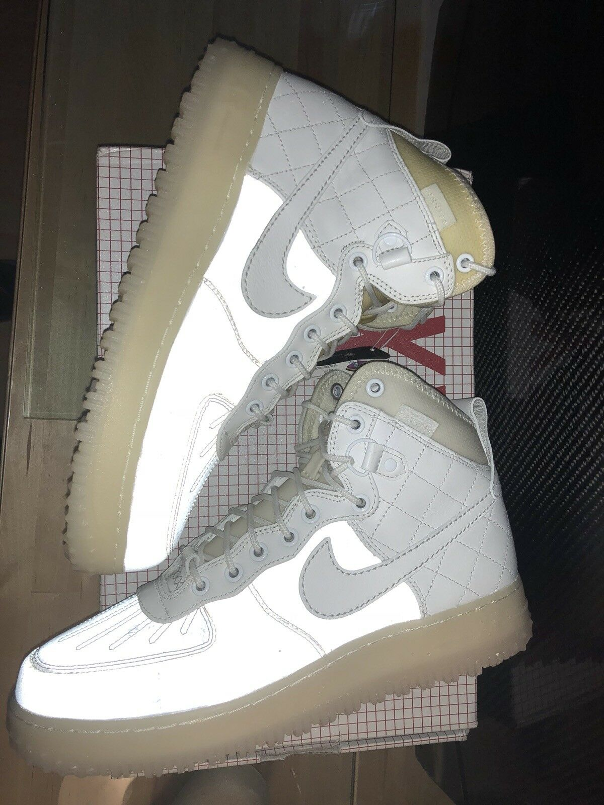 Nike Air Force 1 Duckboot Summit White '08 QS White Pearl 3M size10