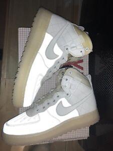 Nike Air Force 1 Duckboot Summit White  08 QS White Pearl 3M size10 ... 65dd1677fe
