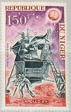 NIGER 1971 298 C162 US Apollo 15 Moon Mission Mondlandung Weltraum Space MNH