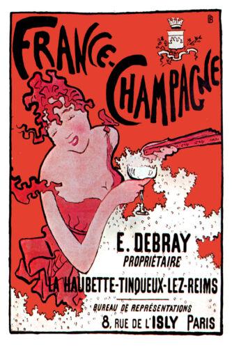 2979.France Champagne  POSTER.Art Nouveau Decorative  Art.Home decor interior