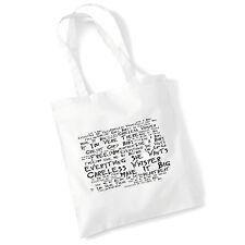Art Studio Tote Bag WHAM! Lyrics Print Album Music Poster Gym Beach Shopper Gift