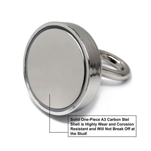"CMS Magnetics Fishing Magnet 405 LB Super Powerful Neodymium Magnet 0.7/"" Thic..."