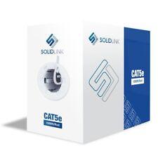 Cat5e Ethernet Cables 1000ft Premium UTP 24awg Feet BULK LAN Network Wire White