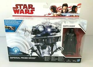 Star-Wars-FORCE-LINK-IMPERIAL-PROBE-DROID-WITH-DARTH-VADER-NEW-NEUF