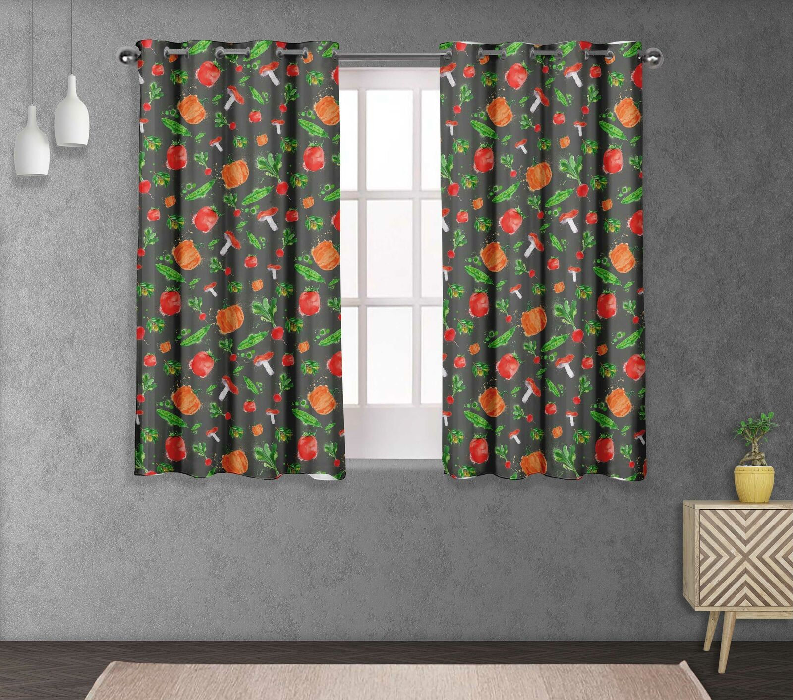 S4sassy Mixed Double Panel Window Treatment Curtain -VG-511F