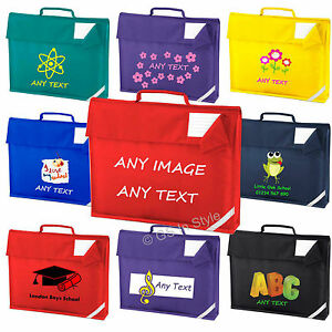 Image Is Loading Personalised Book Bag School Name Class Printed