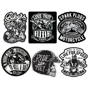 Details Zu Biker Sticker Set Motorcycle Motorbike Vintage Custom Bobber Chopper Retro Decal