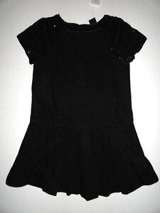 NWT Gap Kids 6-7 Embroidered Border Circle Skirt Girl/'s Soft Black New