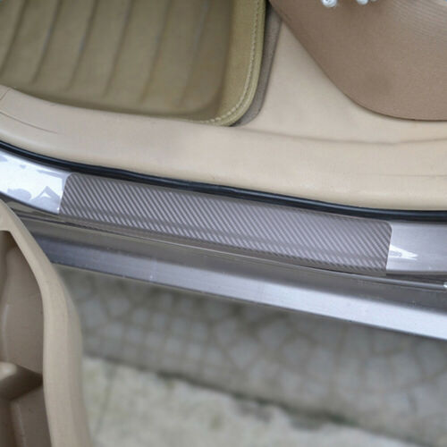 4Pcs Car Door Sill Scuff Carbon Fiber Sticker Welcome Pedal Protect Accessory ft