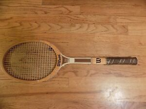 the best attitude a0cbe e5519 Details about Vintage Wilson Stan Smith Capri Wooden Tennis Racquet w/4  1/2