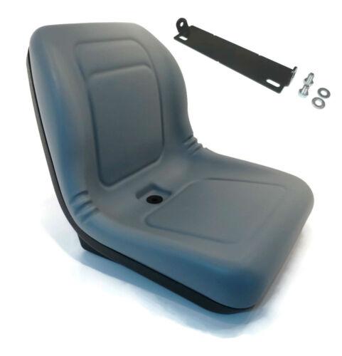 New Grey HIGH BACK SEAT w// Pivot Rod Bracket for John Deere F710 F725 F735 G100