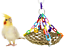 1954 Platform Mat Swing Bonka Bird Toys parrot cages toy conure parakeet quaker
