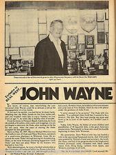 JOHN WAYNE - MOVIE STAR - INTERVIEW IN OLD WESTERN
