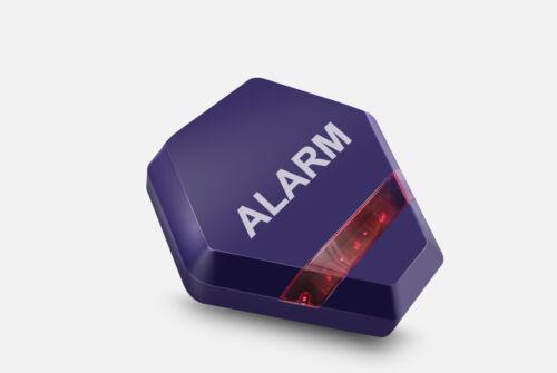 Blue Solar Powered Dummy Burglar Alarm Box Dummy Alarm Siren LED Lights