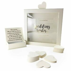 Wedding-Guest-Book-Wishes-Drop-Box-80-Heart-Cards-Reception-Guestbook-Gift
