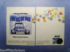 QUATTROR981-PUBBLICITA'/ADVERTISING-1981- FRESCOLINO by JOHNSON WAX -2 fogli