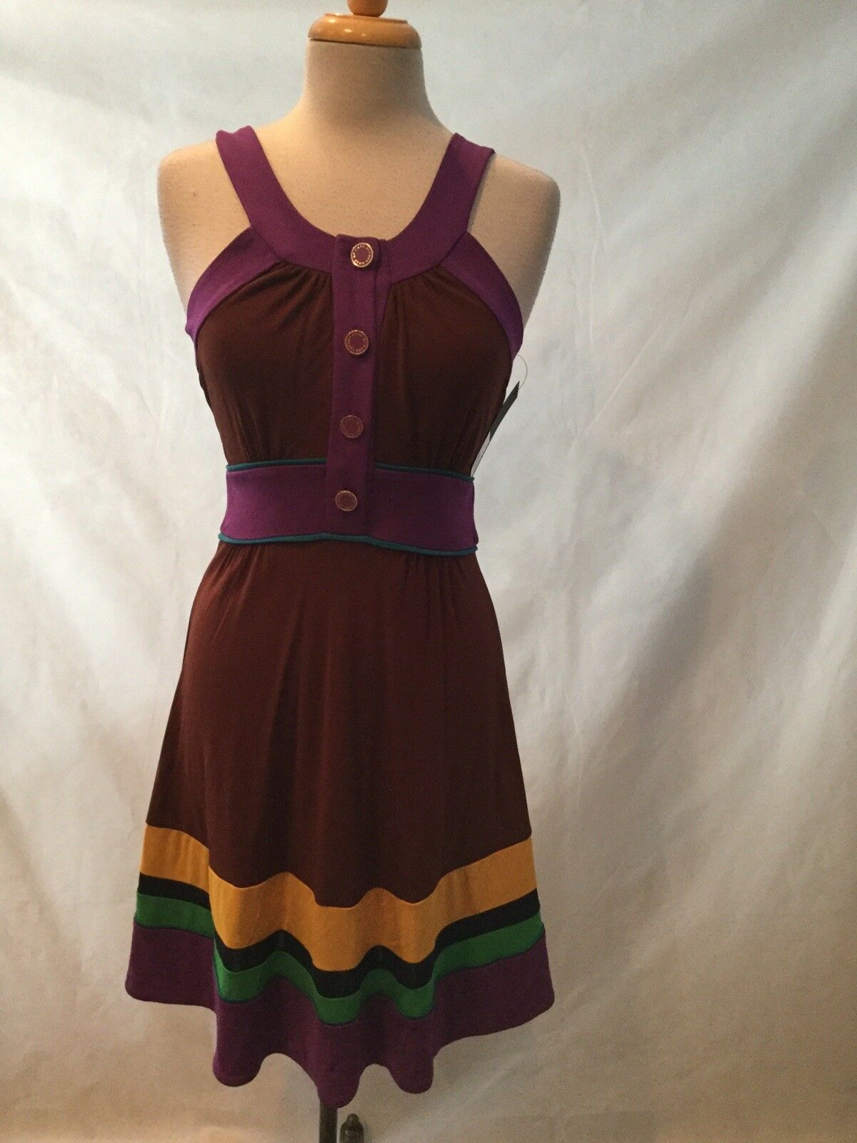 NWT MARC BY MARC JACOBS MULTICOLOR DRESS- SIZE XS
