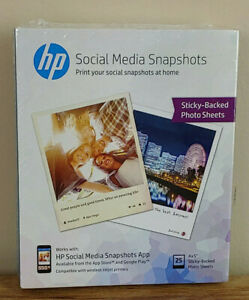 Hp Photo Paper Sticky Back Social Media Snapshots 4x5 25 Sheets Ebay
