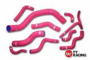 For-Nissan-Silvia-200SX-RPS13-S14-S15-SR20DET-Silicone-Radiator-Hose-Kit-Pink