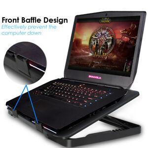 USB LED Light Cooling Stand Pad Cooler Powerful 5 Fan for Laptop Macbook A1932