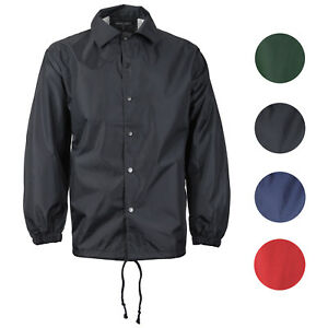 5a04675ab Details about Renegade Men's Lightweight Water Resistant Button Up  Windbreaker Coach Jacket
