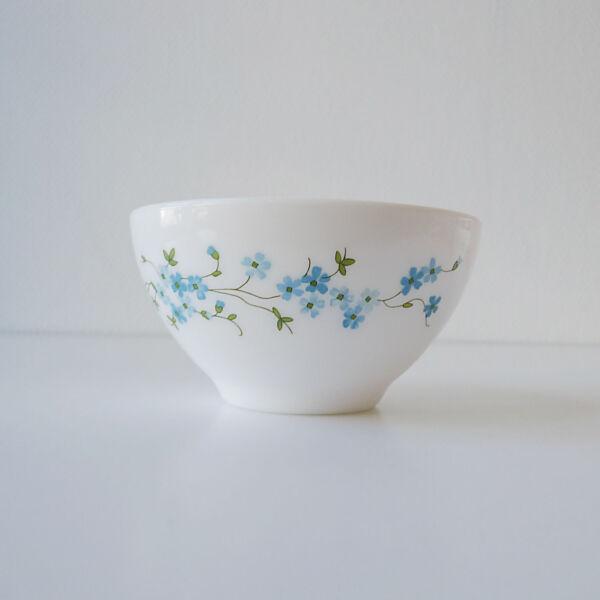 1 Bol Coupelle Veronica Myosotis Fleur Bleu Arcopal Années 70's Vintage 1970