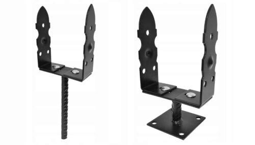 DEKORATIV Pfostenträger U-Pfostenträger Bodenhülse Pfosten Stützenfuß 110-200mm