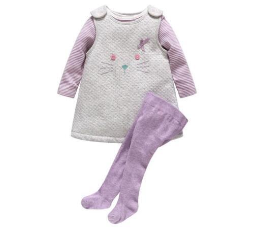 Automne hiver épais fille bébé vêtements barboteuse 3Pcs Sets Cartoon Legging Tenues