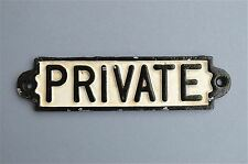 CAST IRON PRIVATE DOOR WALL SIGN PLAQUE TOILET SIGN RAILWAY STYLE PP1