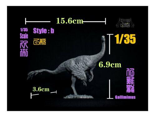 Alioramus Hunt 3Pcs Gallimimus Scene Statue Dinosaur Collector GK Toys Unpainted