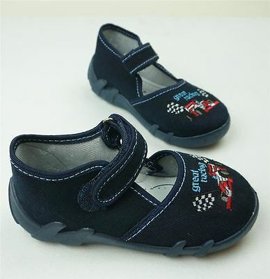 Coraggioso Baby Bambino Scarpe Di Tela Ragazzi Bambini Sandali-navy Blue (uk 3/eu 19)-