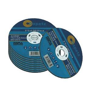 Commerce qualité 3 pouces 75mm Air coupé outil disques X 25 Pack Tuyau d'échappement